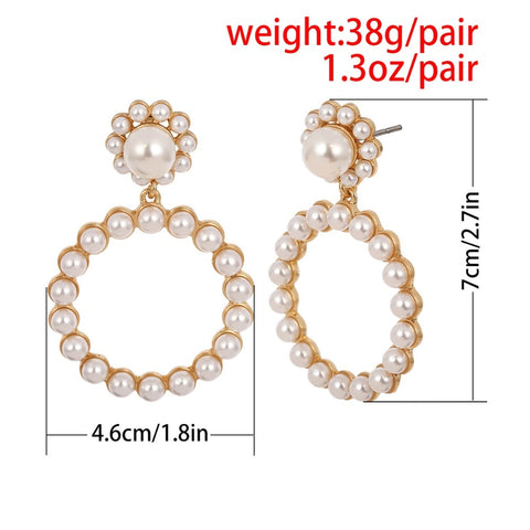 Crystal Round Pendant Earrings