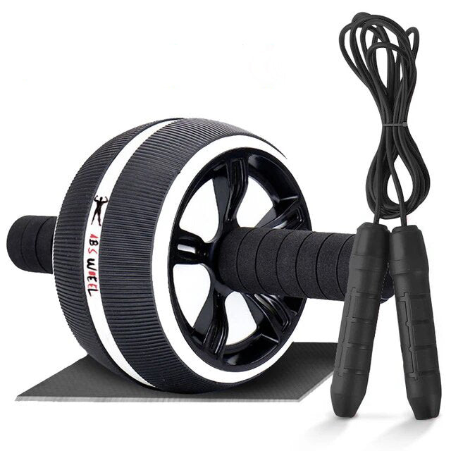 2-in-1 Ab Roller with Mat