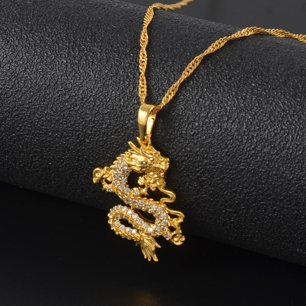 Lucky Dragon Pendant Necklace