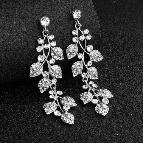 Crystal Alloy Long Earrings