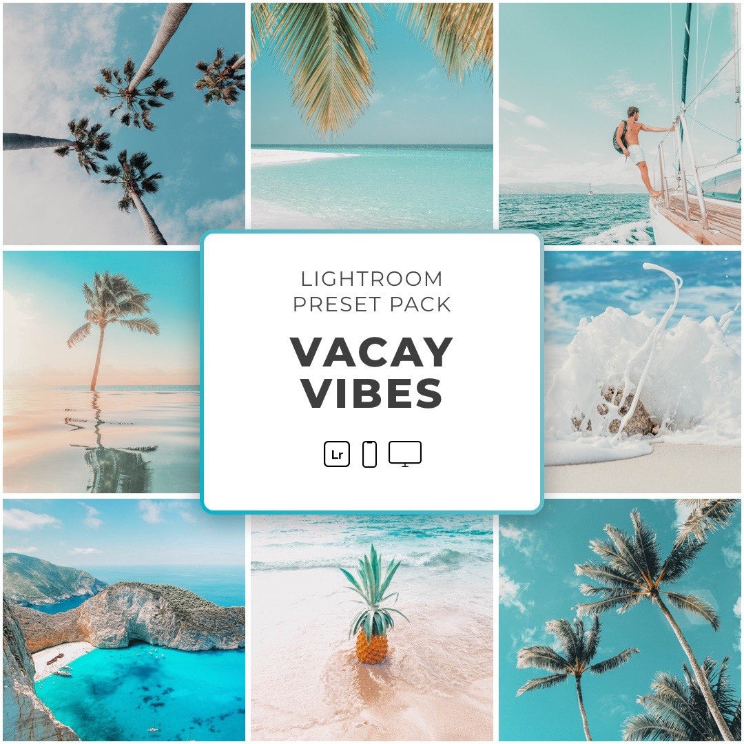 Vacay Vibes™️ // 5 Lightroom Presets - Simply Preset