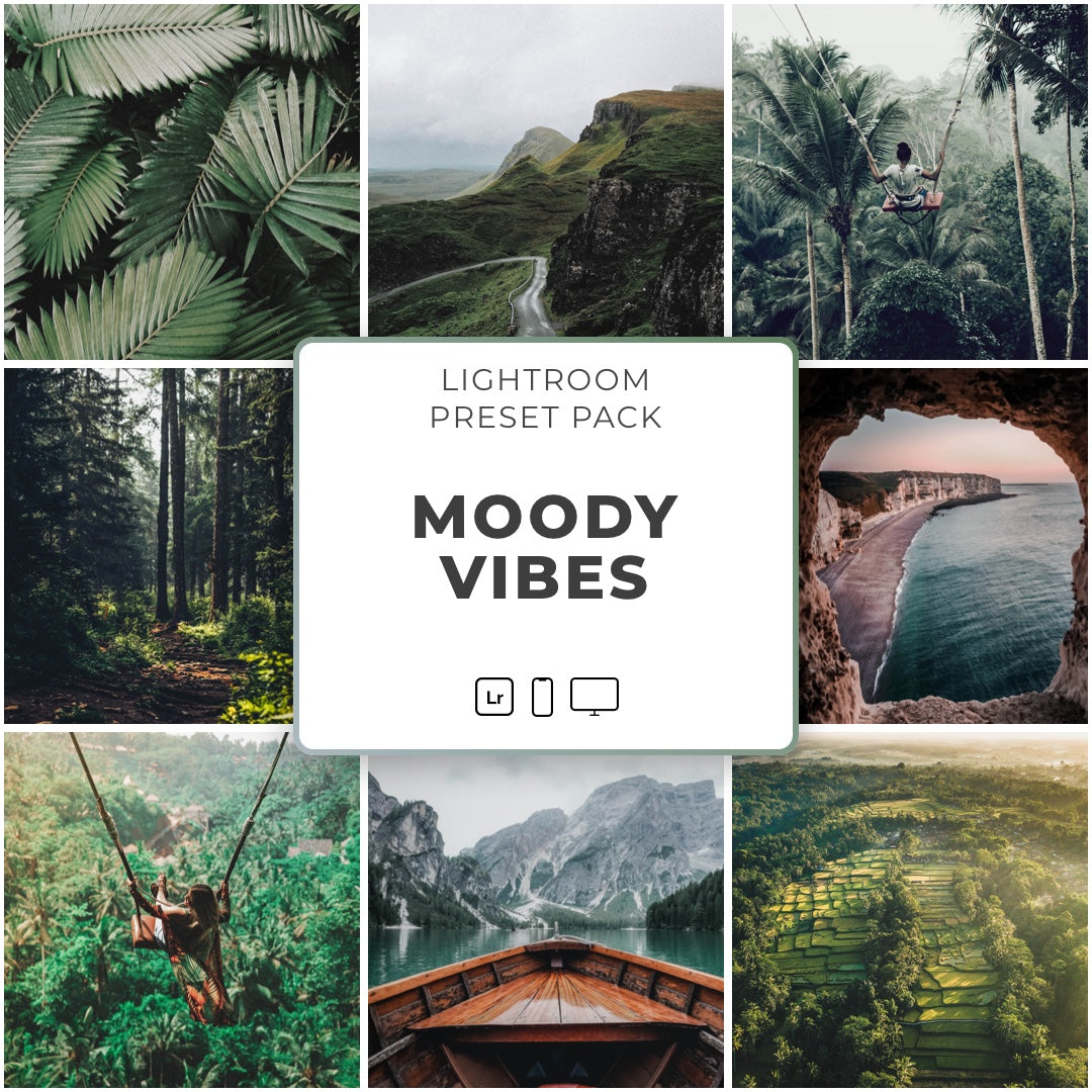 Moody Vibes™️ // 5 Lightroom Presets - Simply Preset