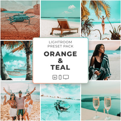Orange & Teal™️ // 5 Lightroom Presets - Simply Preset