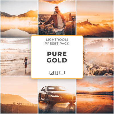 Pure Gold™️ // 5 Lightroom Presets - Simply Preset