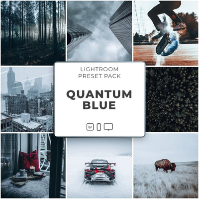 Quantum Blue™️ // 5 Lightroom Presets - Simply Preset