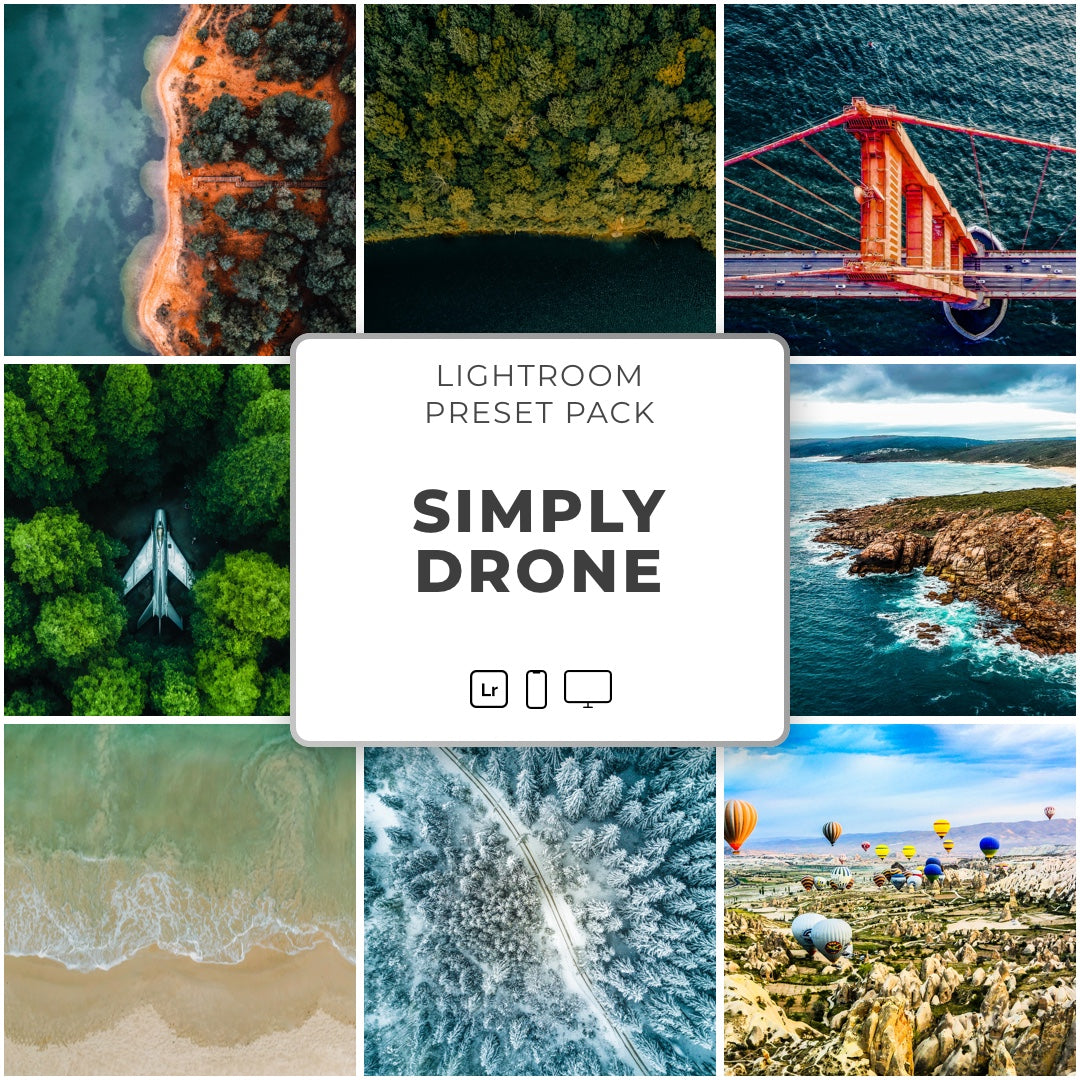 Simply Drone™️ // 30 Lightroom Presets - Simply Preset