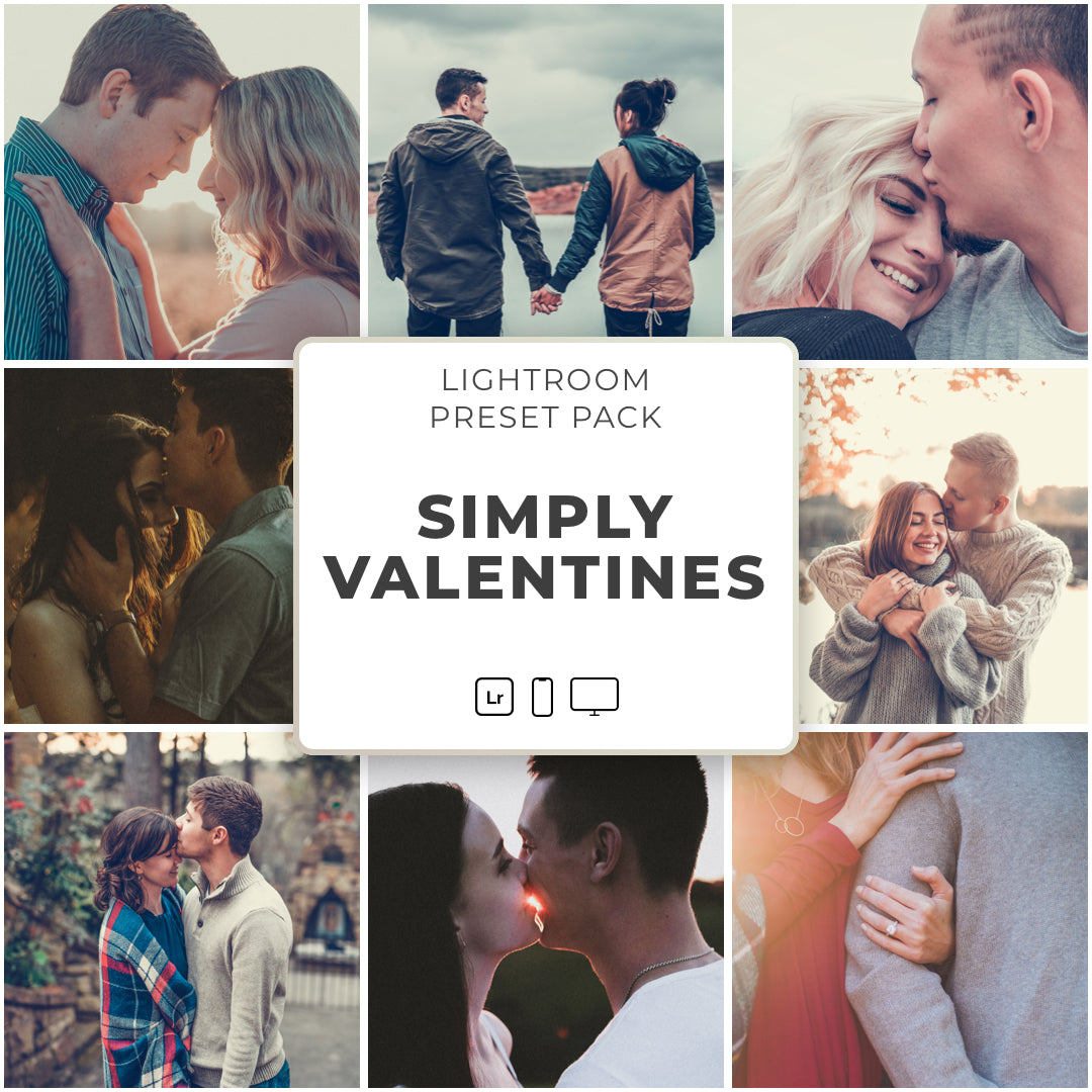 Simply Valentines™️ // 12 Lightroom Presets - Simply Preset