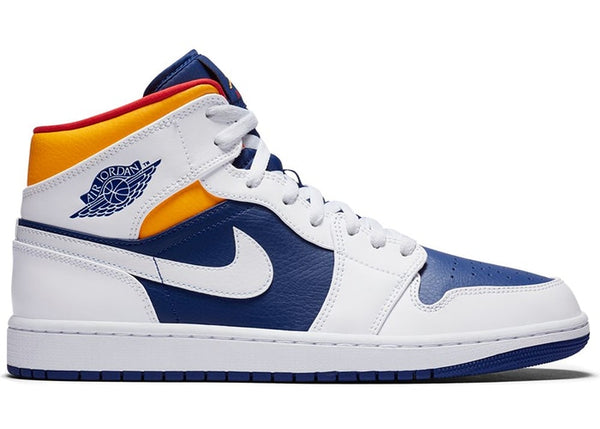 Air Jordan 1 Mid Royal Blue Laser Orange