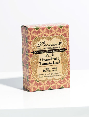 Pink Grapefruit Tomato Leaf - Natural Soap