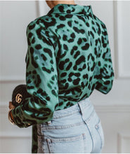 Load image into Gallery viewer, Anabelle Leopard Blouse - La Hermosa