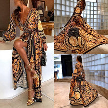 Load image into Gallery viewer, Bohemian Gold Maxi Dress - La Hermosa