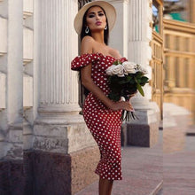 Load image into Gallery viewer, Dayna Polka Dress - La Hermosa