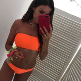 Bikini Set  Brazilian bikini 2020 swimwear women Bandeau swimsuit female Push up bathing suit Summer bathers biquini