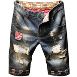 Men's Jeans Ripped Shorts 2020 Summer New Fashion Casual Vintage Slim Fit Denim Shorts Male Brand Clothes
