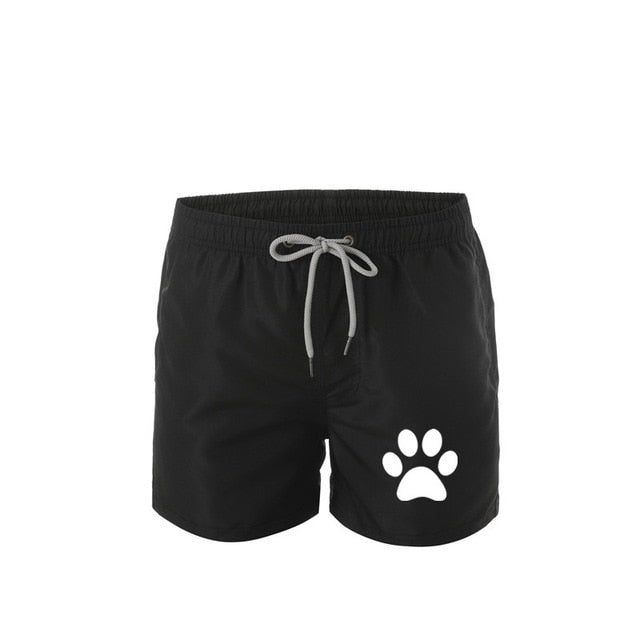 Men's Swimming Board Shorts Bathing Suits for Men Fashion Swim Sport Trunks Quick Dry Swimwear with Mesh Lining Pocket Bear foot