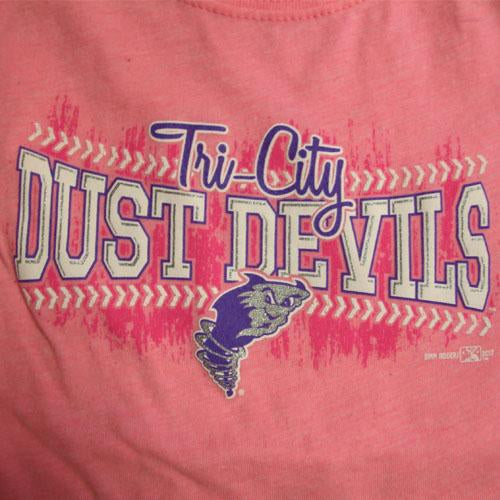Tri-City Dust Devils Girls Dust Devils Baseball Tee