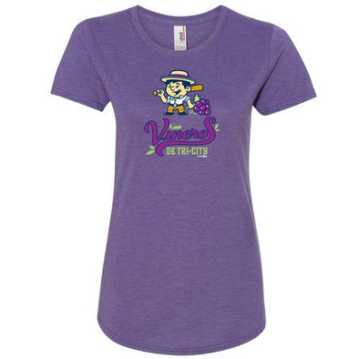 Tri-City Dust Devils Womens Viñeros De Tri-City Primary Logo Scoop Neck Tee