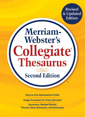 Merriam-Webster's Collegiate Thesaurus Second Edition cover