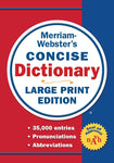 Merriam-Webster's Concise Dictionary Large Print Edition cover