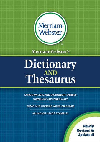 Merriam-Webster's Dictionary and Thesaurus (Trade paperback) cover
