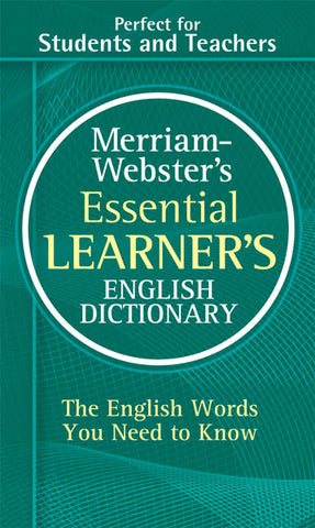 Merriam-Webster's Essential Learner's English Dictionary cover