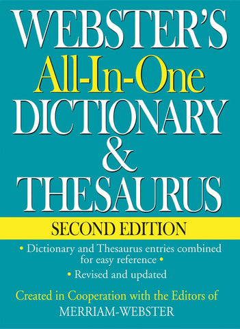 Webster's All-In-One Dictionary & Thesaurus cover