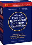 Webster's Third New International Dictionary Unabridged box