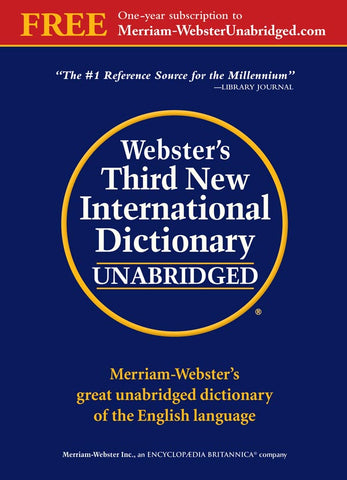 Webster's Third New International Dictionary, Unabridged cover