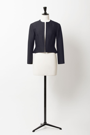 Collarless  Shaped Jacket | Class Blue