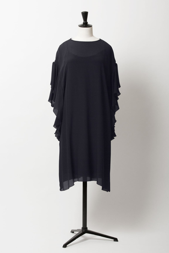 Ruffle Sleeve Dress | Midnight Blue