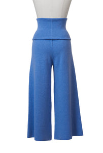 Cashmere Rib Hi Waist Pants | Coral Red