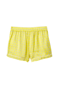 Silk Short Pants | Yellow