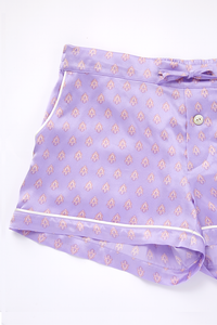 Silk Short Pants | Purple