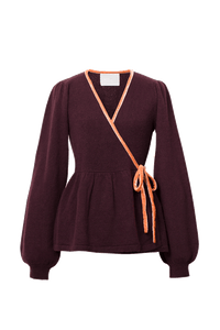 Velour Piping Cache Coeur | Bordeaux