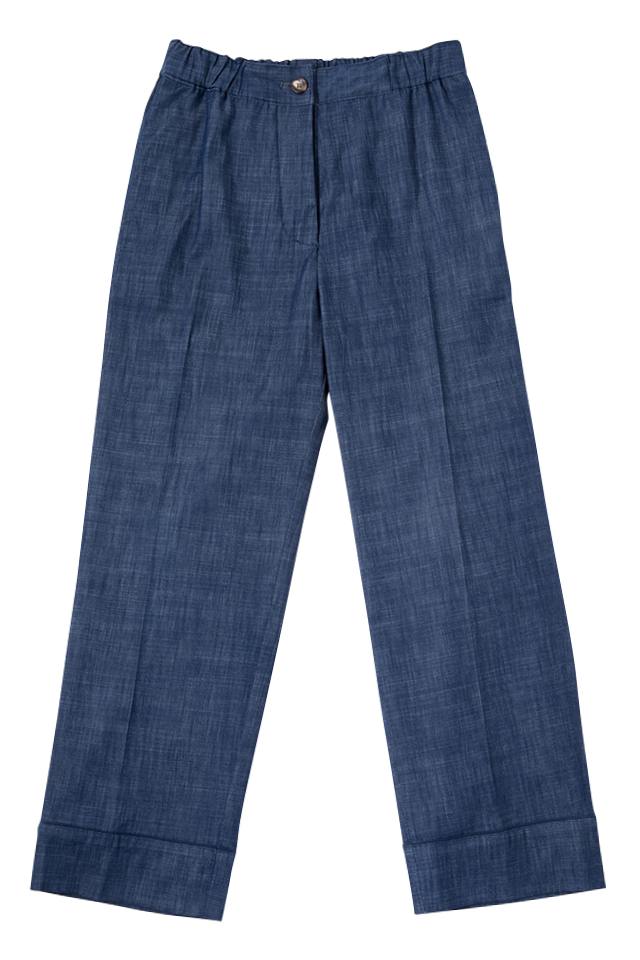 Highrise Tapered Jeans | Indigo