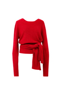 2Way Rib Knit | Red