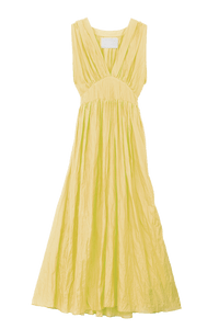 Crinkle Maxi One Piece | Yellow