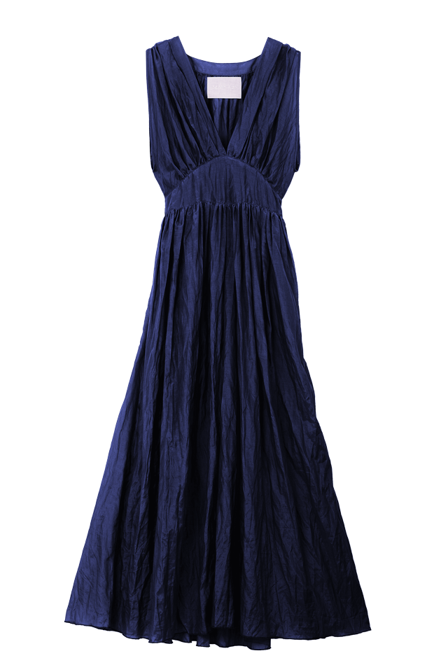 Crinkle Maxi One Piece | Navy