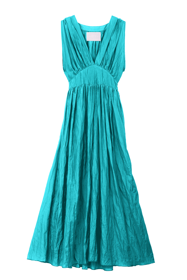 Crinkle Maxi One Piece | Emerald