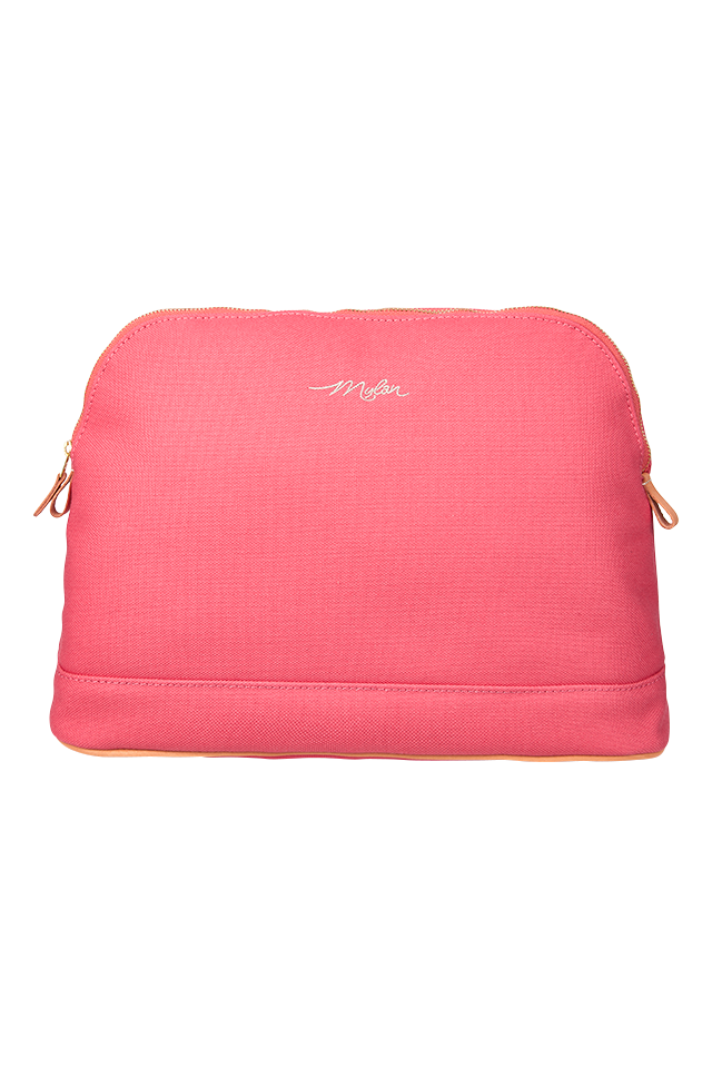 Travel Pouch - Large | Coral Pink