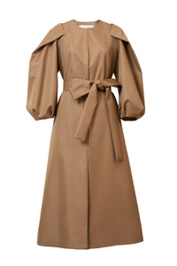 Volume Sleeve Coat | Sahara