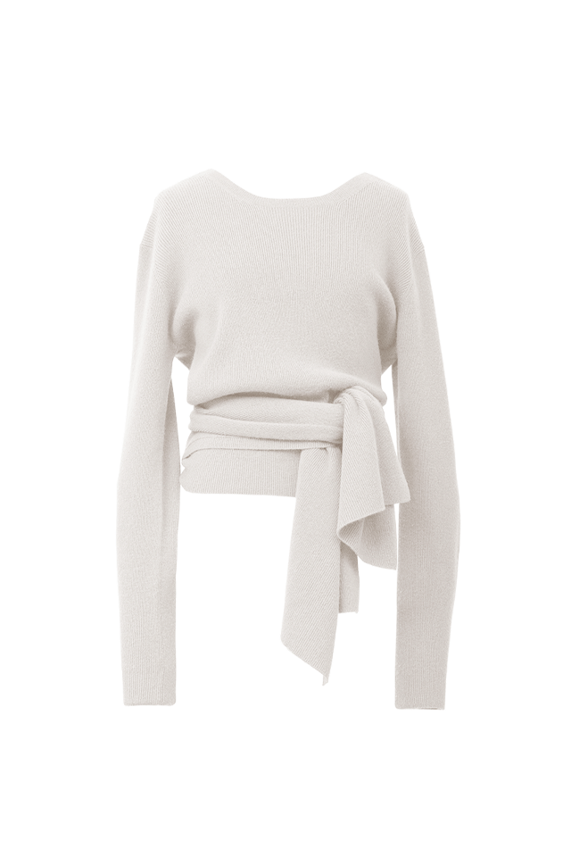 2Way Rib Knit | Shell White