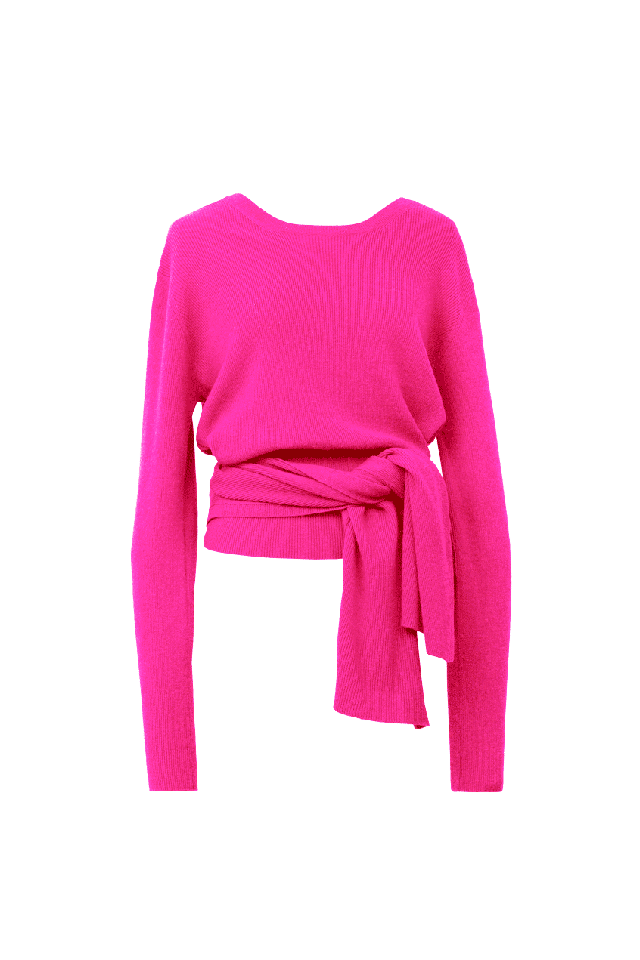 2Way Rib Knit | Hot Pink
