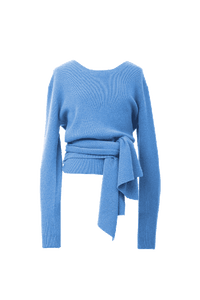2Way Rib Knit | Sea Blue