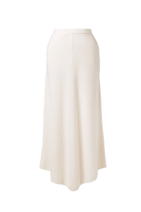 Rib Knit Skirt | Shell White
