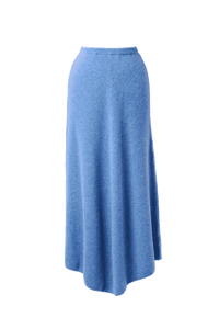 Rib Knit Skirt | Sea Blue
