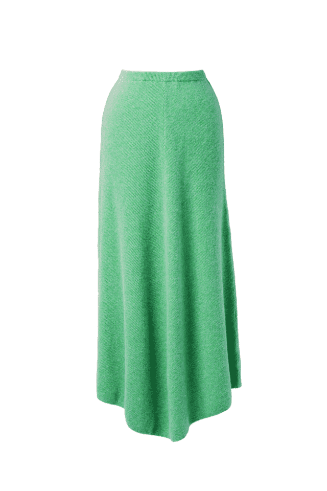 Rib Knit Skirt | Mint