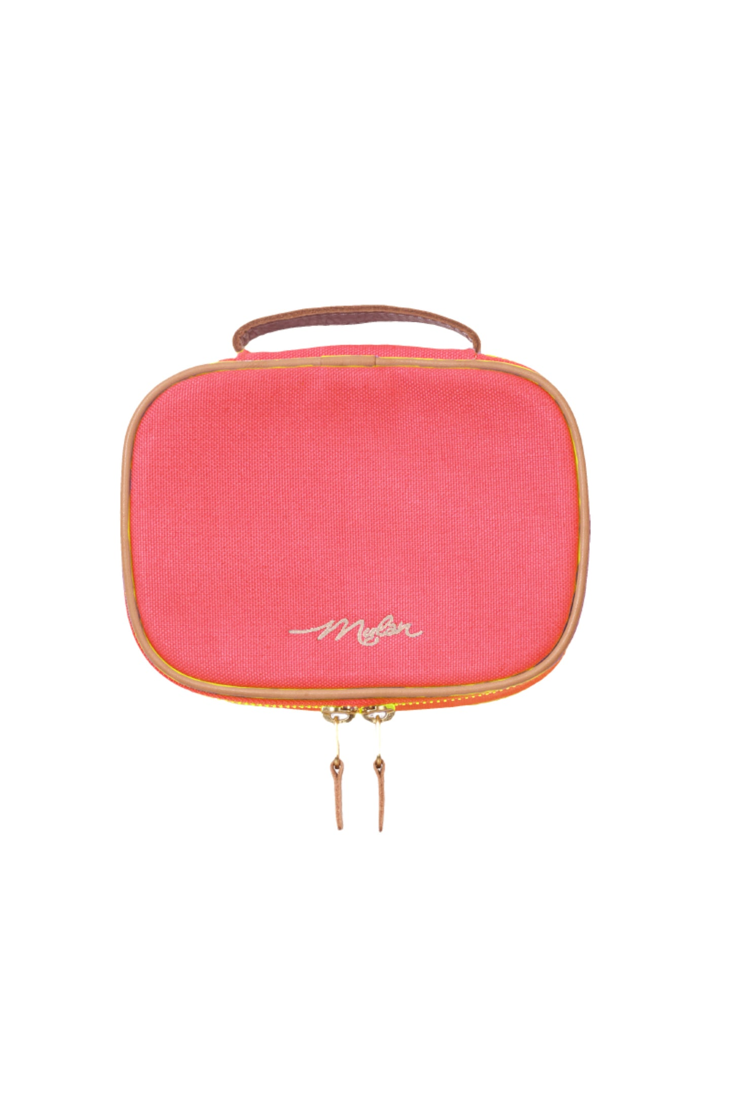 Canvas Cosmetic Pouch | Coral Pink
