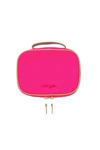 Canvas Cosmetic Pouch | Fuchsia Pink