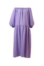 Load image into Gallery viewer, Color Linen Volume Sleeve Dress | Lilac